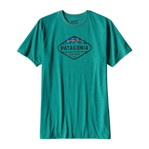 Patagonia M's Fitz Roy Crest Cotton/Poly T-Shirt True Teal