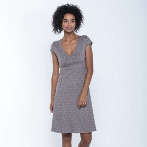 Toad & Co ROSEMARIE DRESS COCOA QUITO LINE PRINT