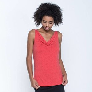 Toad & Co WISPER DOUBLE TANK BRIGHT CORAL TEXTURE PRINT