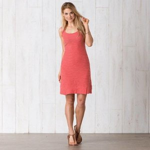 Toad & Co SAMBA WAVE TANK DRESS SPICED CORAL