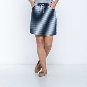 Toad & Co TICA SKIRT DEEP NAVY BALANCED STRIPE