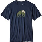 Patagonia M's Eat Local Upstream Cotton T-Shirt Navy Blue