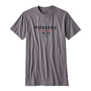Patagonia M's Climb Clean Nuts Cotton/Poly T-Shirt Narwhal Grey