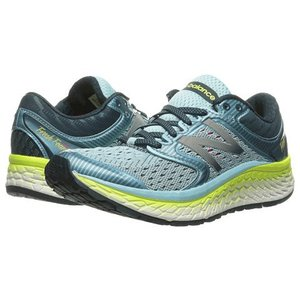 New Balance Womens Fresh Foam 1080v7 Ozone Blue Glo/Lime Glo