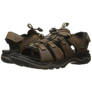 Keen RIALTO OPEN TOE M-DARK EARTH/BLACK DARK EARTH/BLACK