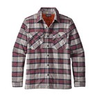 Patagonia M's Insulated Fjord Flannel Jkt Migration Plaid: Drumfire Red