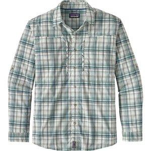 Patagonia M's L/S Sun Stretch Shirt Pelagic: Strait Blue