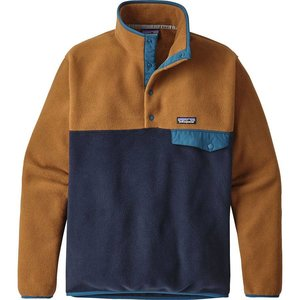Patagonia M's LW Synch Snap-T P/O Navy Blue w/Bear Brown