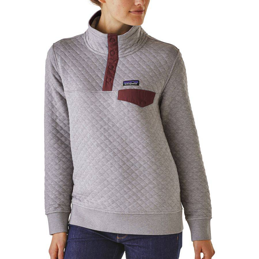 Patagonia W S Cotton Quilt Snap T P O Drifter Grey W Dark
