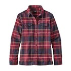 Patagonia W's L/S Fjord Flannel Shirt Big Sky Plaid: Magenta