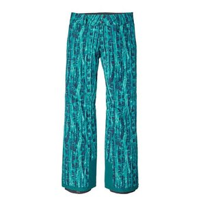 Patagonia W's Insulated Snowbelle Pants - Reg Go With The Flow: Elwha Blue