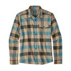 Patagonia M's L/S LW Fjord Flannel Shirt Upriver: Filter Blue