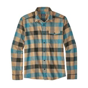 Patagonia M's L/S LW Fjord Flannel Shirt Upriver: Filter Blue