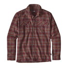 Patagonia M's L/S Fjord Flannel Shirt Salty Flats: Dark Ruby