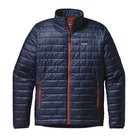 Patagonia M's Nano Puff Jkt Navy Blue w/Paintbrush Red