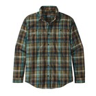 Patagonia M's L/S Pima Cotton Shirt Cascade Plaid: Black
