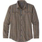 Patagonia M's L/S Pima Cotton Shirt Inby Plaid Small: Smolder Blue