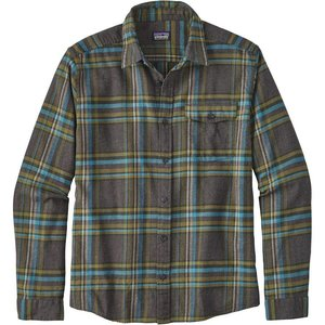 Patagonia M's L/S LW Fjord Flannel Shirt Watershed: Forge Grey