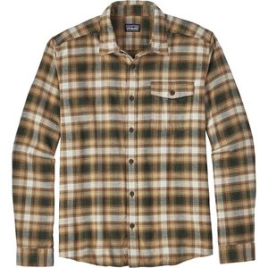 Patagonia M's L/S LW Fjord Flannel Shirt Revival: Bear Brown