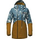 The North Face W STRUTTIN JACKET Monterey Blu Jacquard Splatter Prnt/Tapenade Green