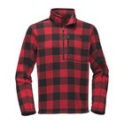 The North Face M NOVELTY GORDON LYONS 1/4 ZIP Cardinal Red Grizzly Print