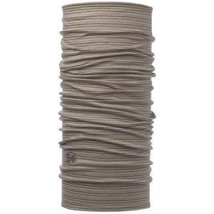 Buff Lightweight Merino Wool Walnut Brown Stripes