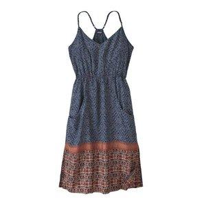 Patagonia W's Lost Wildflower Dress Sunburst Crux: Classic Navy