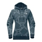 The North Face W ALL-OVER PRINT HOODIE Blue Wing Teal Bandana Print