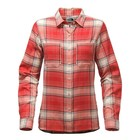 The North Face W L/S CASTLETON SHIRT Sunbaked Red Trailhead Plaid
