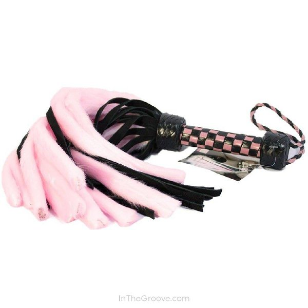 """Suede and Fluff MINI Flogger - 18"""""""