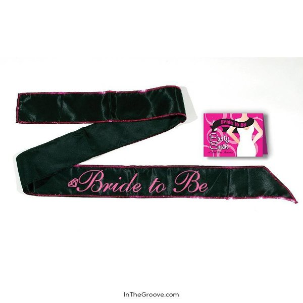 Little Genie Bride to Be Black sash