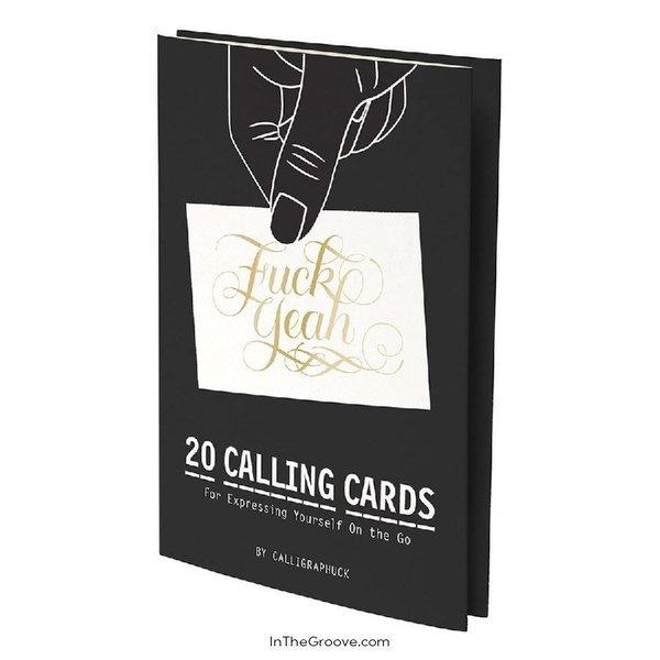 Fuck Yeah Calling Cards 20pk