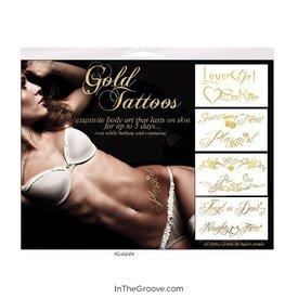 Gold Tattoos 4pk Naughty Words