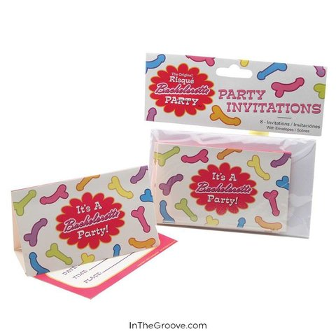 Risque Bachelorette Invites 8-pack