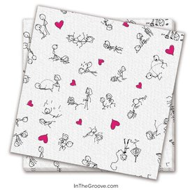 Stick Figure Sex Napkins 8-pack