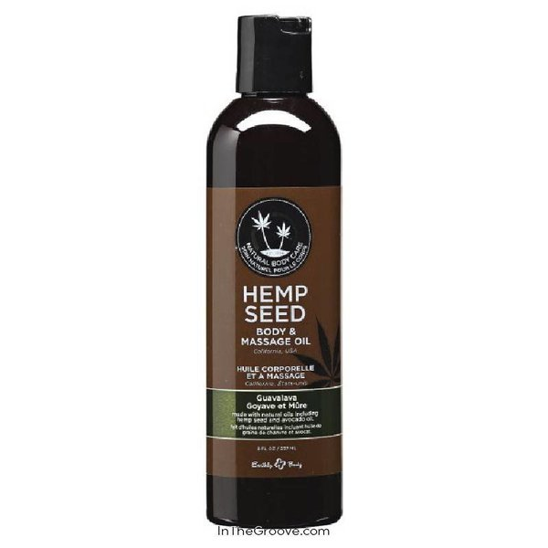 Earthly Body Guavalava Hemp Seed Massage Oil - 2 Oz.