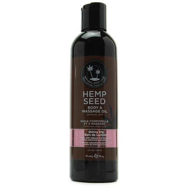Earthly Body Skinny Dip Hemp Seed Body And Massage Oil- 8 oz.