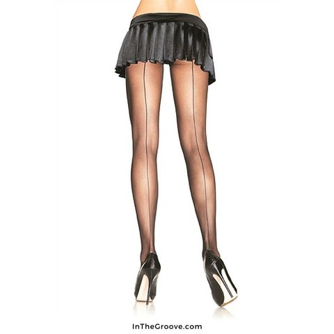 Sheer Backseam Pantyhose Black - O/S