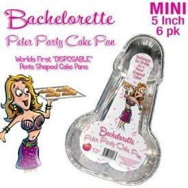 Bachelorette Disposable Peter Party Cake Pan - Small Pack of 6