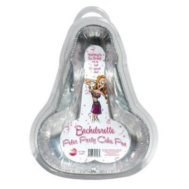 Bachelorette Disposable Peter Party Cake Pan - Medium Pack of 2