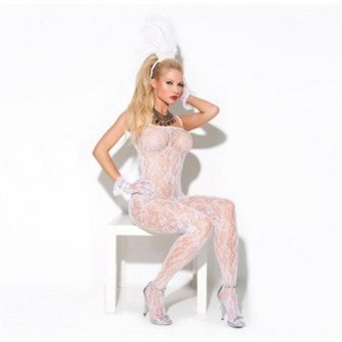 Lace Bodystocking - White