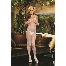 Fishnet Bodystocking - White