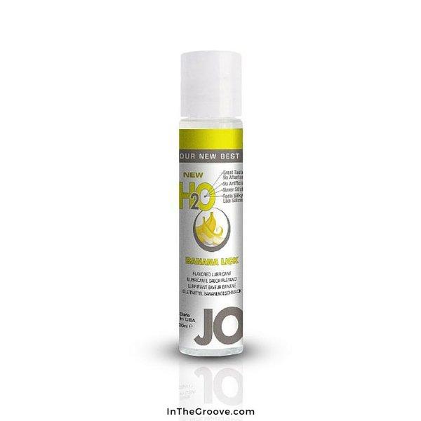 System Jo JO 1 oz H2O Flavored Banana Lick