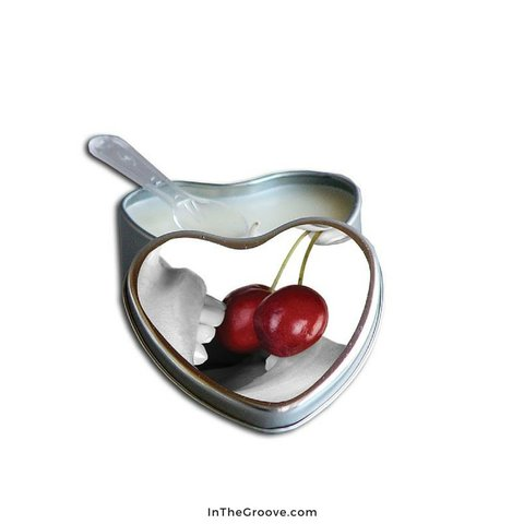 Edible Massage Hemp Candle - Cherry 4 oz
