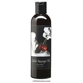 Earthly Body Edible Massage Hemp Oil Cherry