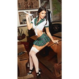 Baci Plaid Top Schoolgirl Set Queen
