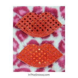 Pink Lips Nipple Cover Pasties
