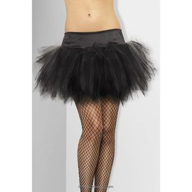 Fever/Smiffys Tutu Frilly Black - One Size