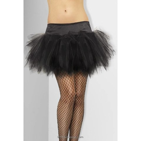 Tutu Frilly Black - One Size