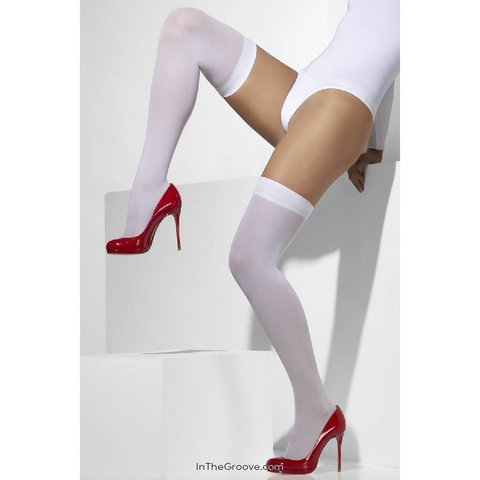Thigh High Stay-up Opaque White - One Size